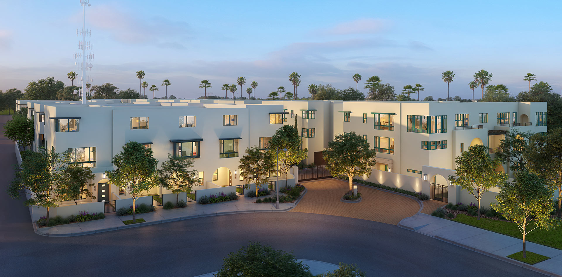 Expo Walk, Leimert Park Townhomes Entry