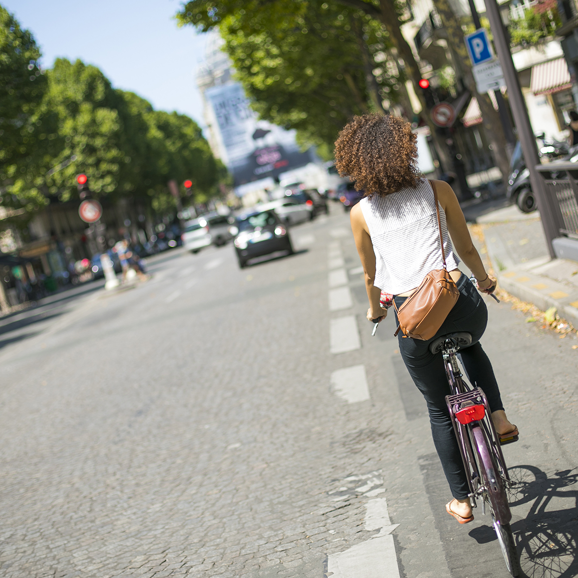 Riding Bike In Paris